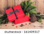 gift box with christmas...   Shutterstock . vector #161409317