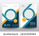 blue annual report poster flyer ... | Shutterstock .eps vector #1614104464