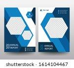 blue annual report poster flyer ... | Shutterstock .eps vector #1614104467