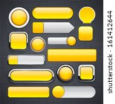 blank yellow web buttons for... | Shutterstock .eps vector #161412644