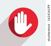 vector red circle icon  on gray ... | Shutterstock .eps vector #161416199