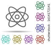 atom  science in multi color...
