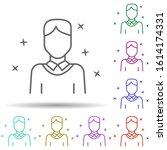 man student avatar multi color...
