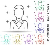 man worker avatar multi color...