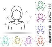 avatar woman multi color style...
