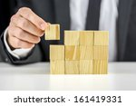 closeup of businessman making a ... | Shutterstock . vector #161419331