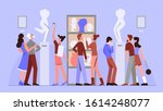 art gallery flat vector... | Shutterstock .eps vector #1614248077