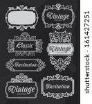 vintage chalkboard banner... | Shutterstock .eps vector #161427251