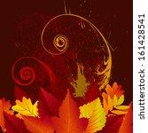 beautiful autumn background | Shutterstock .eps vector #161428541
