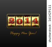 happy new year 2014 card.... | Shutterstock .eps vector #161429111