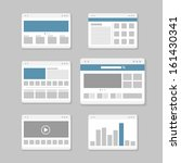 web site page templates... | Shutterstock .eps vector #161430341