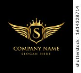 luxury royal wing letter s... | Shutterstock .eps vector #1614328714
