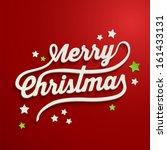 merry christmas white lettering ... | Shutterstock .eps vector #161433131