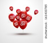 red baloons discounts. sale... | Shutterstock .eps vector #161433785