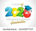 class of 2020 year graduation... | Shutterstock .eps vector #1614357727