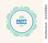 greeting card with wreath  | Shutterstock .eps vector #161435861