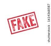 fake grunge ink stamp vector | Shutterstock .eps vector #1614368587