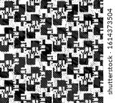 black and white grunge stripe...   Shutterstock . vector #1614373504