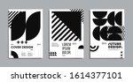 minimal geometric posters set.... | Shutterstock .eps vector #1614377101