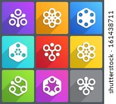 flat abstract icon for logo or... | Shutterstock .eps vector #161438711