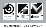 minimal geometric posters set.... | Shutterstock .eps vector #1614394807