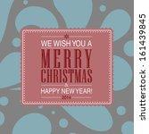 elegant merry christmas and... | Shutterstock . vector #161439845