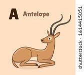 Cartoon Antelope  Cute...