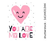 cute heart and phrase   you are ... | Shutterstock .eps vector #1614431344