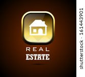 real estate icon. eps 10... | Shutterstock .eps vector #161443901