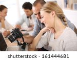 students in photography working ... | Shutterstock . vector #161444681