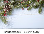 winter background   blue... | Shutterstock . vector #161445689