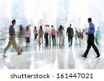 abstakt image of people in the... | Shutterstock . vector #161447021