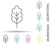 oak multi color style icon....