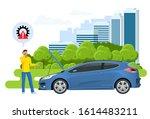 online roadside assistance.... | Shutterstock .eps vector #1614483211