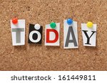 the word today in cut out... | Shutterstock . vector #161449811