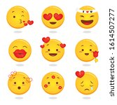 Fun Round Yellow Emojis  ...