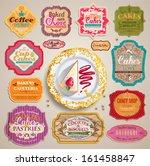 vintage set of grunge stickers  ...   Shutterstock .eps vector #161458847