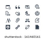 web page and internet icons | Shutterstock .eps vector #161460161