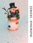 Vintage Snowman Ornament With A ...