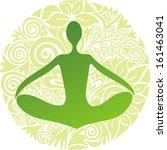 attività,equilibrio,buddismo,centro,controllo,determinazione,cc),elemento,energia,verde,salute,sano,umano,illustrazione,foglia