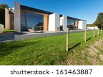 beautiful modern house in... | Shutterstock . vector #161463887