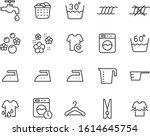 set of laundry icons  cleaning  ...   Shutterstock .eps vector #1614645754