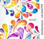 abstract colorful arc drop... | Shutterstock .eps vector #161464799