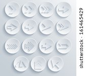 vector arrow circle icon set....