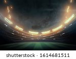 soccer stadium with... | Shutterstock . vector #1614681511