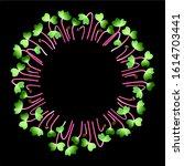 microgreens hong vit radish.... | Shutterstock .eps vector #1614703441