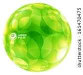abstract green globe. vector...