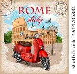 Vintage Touristic Postcard.rome ...