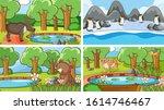 background scenes of animals in ...   Shutterstock .eps vector #1614746467