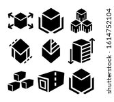 cube icon isolated sign symbol...   Shutterstock .eps vector #1614752104